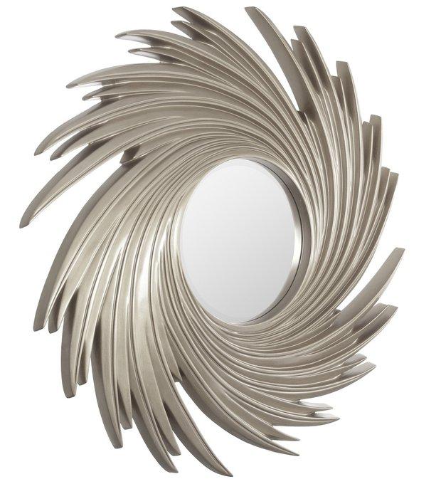 Настенное Зеркало в раме модерн Tornado Silver