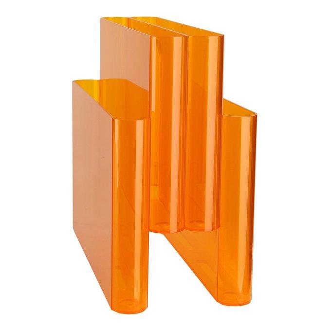 Держатель журналов Portariviste оранжевого цвета