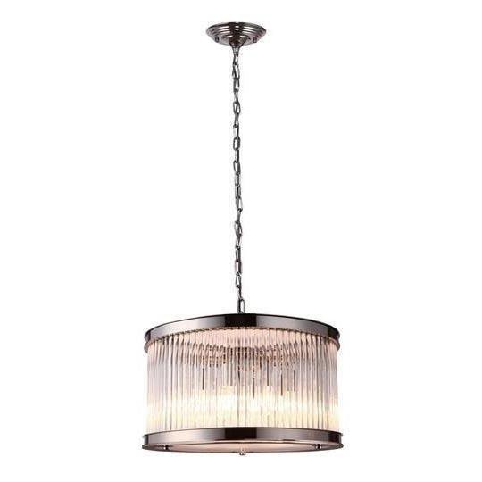 Подвесной светильник с плафоном из хрусталя