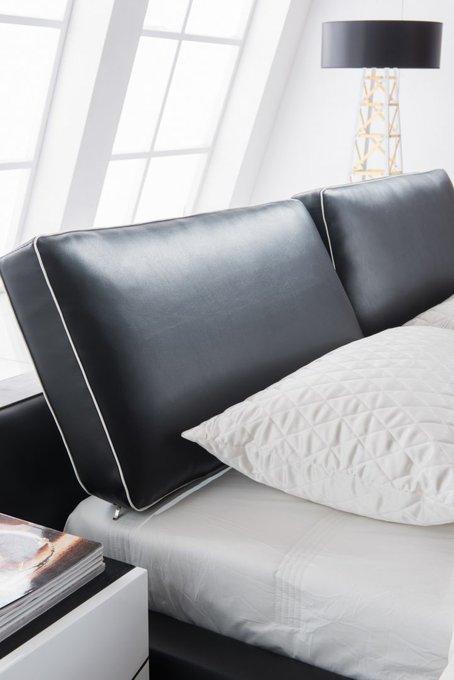 Кровать с обивкой из экокожи 180х200