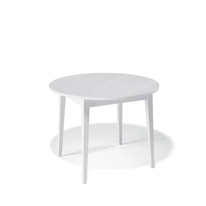 Стол обеденный Spot раздвижной цвета белый сатин