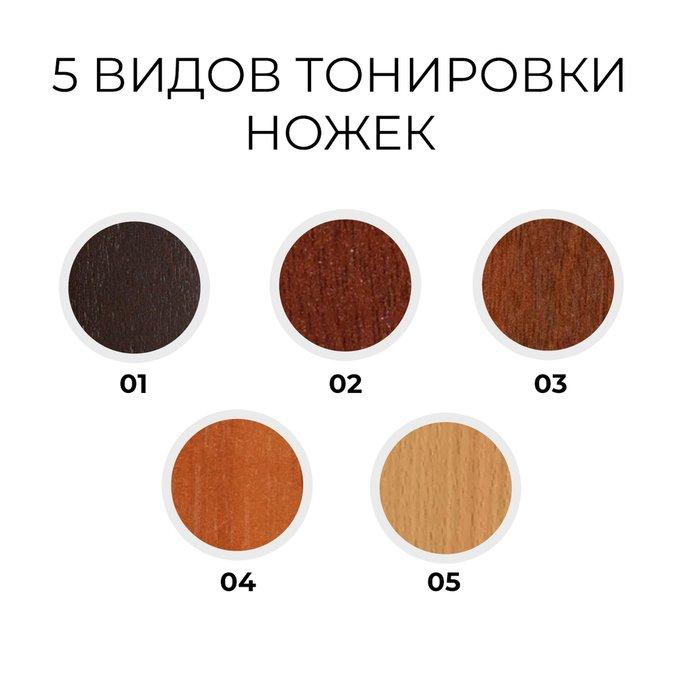 Двухспальная кровать Кристина коричневого цвета 200х200