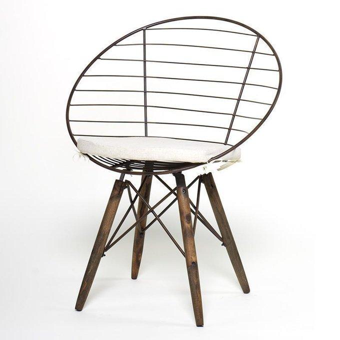 Кресло из ясеня и металла