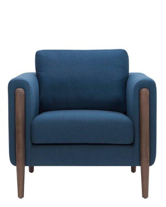 Кресло Brownie chair синего цвета