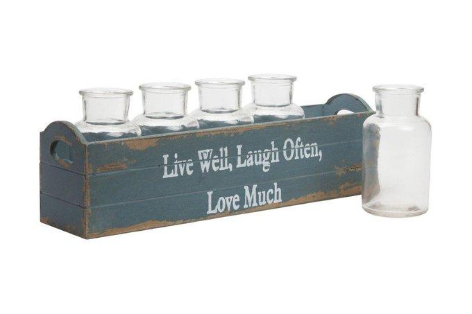 Набор стеклянных бутылок Slogan