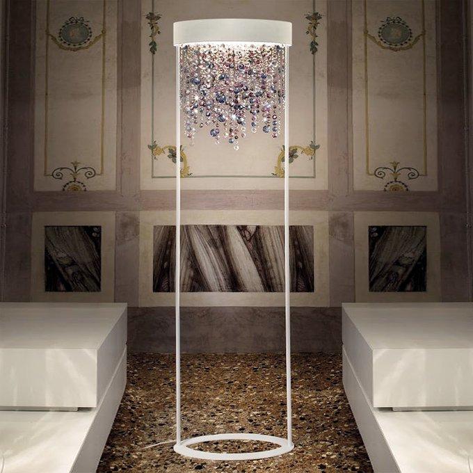 Торшер Masiero Multicolor с подвесками из итальянского стекла