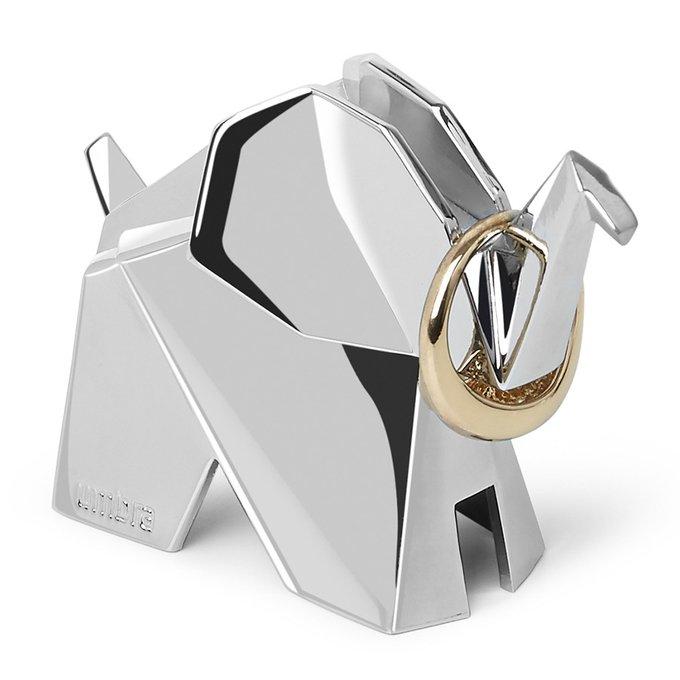 Держатель для колец origami слон серого цвета
