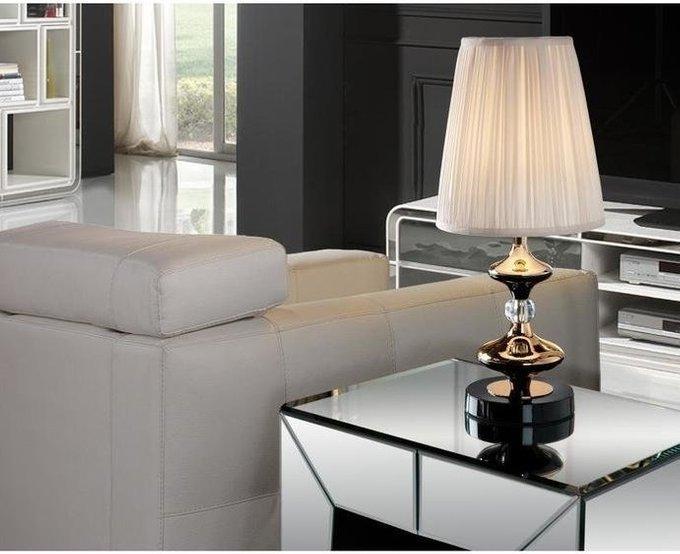 Настольная лампа Schuller Oliver с белым абажуром