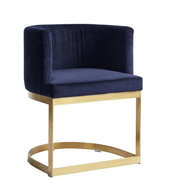 Обеденный стул Lounge синего цвета