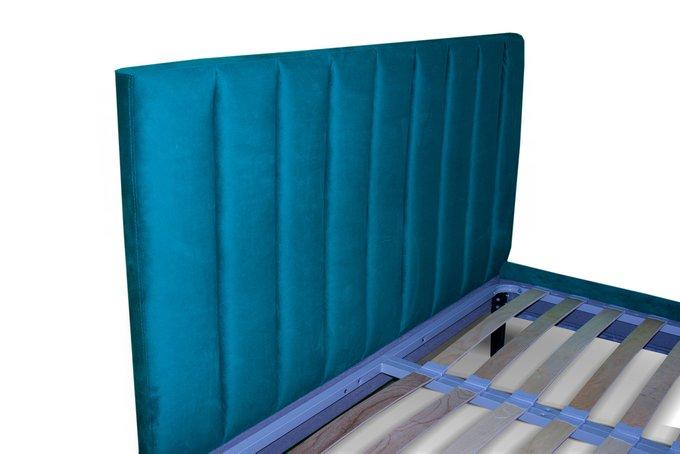 Кровать Клэр синего цвета 180х200 с ящиком для хранения