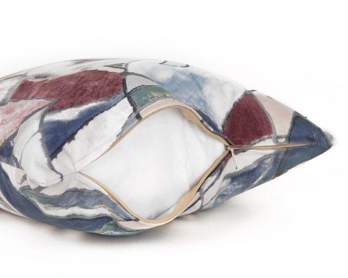Декоративная подушка Fleur Azure 45х45 из полиэстера