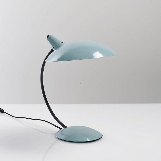 Настольная лампа Rosella в винтажном стиле бирюзового цвета