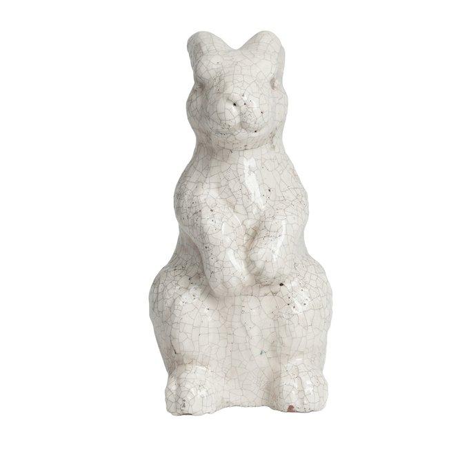 Бежевая декоративная керамическая статуэтка Rabbit