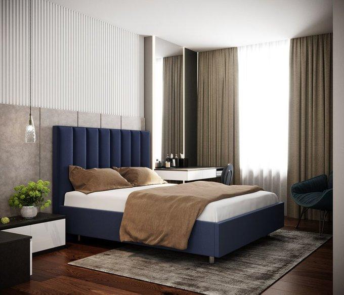 Кровать Параллель 200х200 графитового цвета
