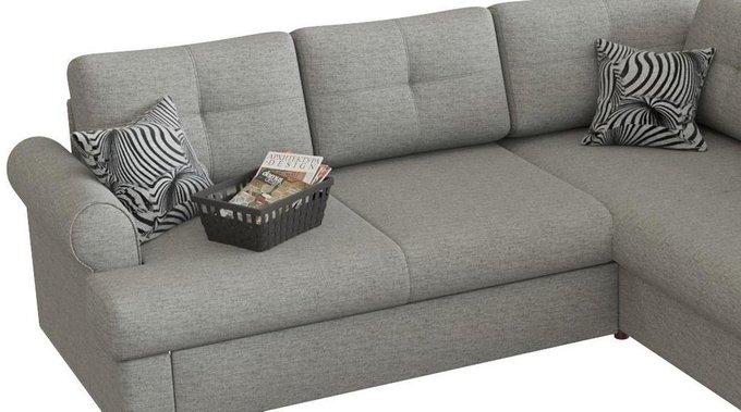 Угловой диван-кровать Мирта Милфорд серого цвета