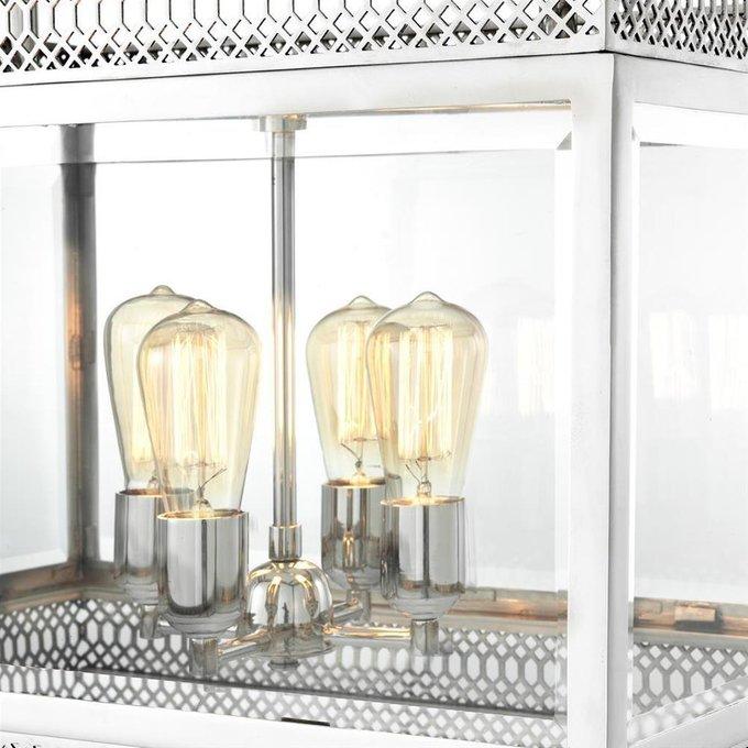 Подвесная люстра Roma S из металла и стекла