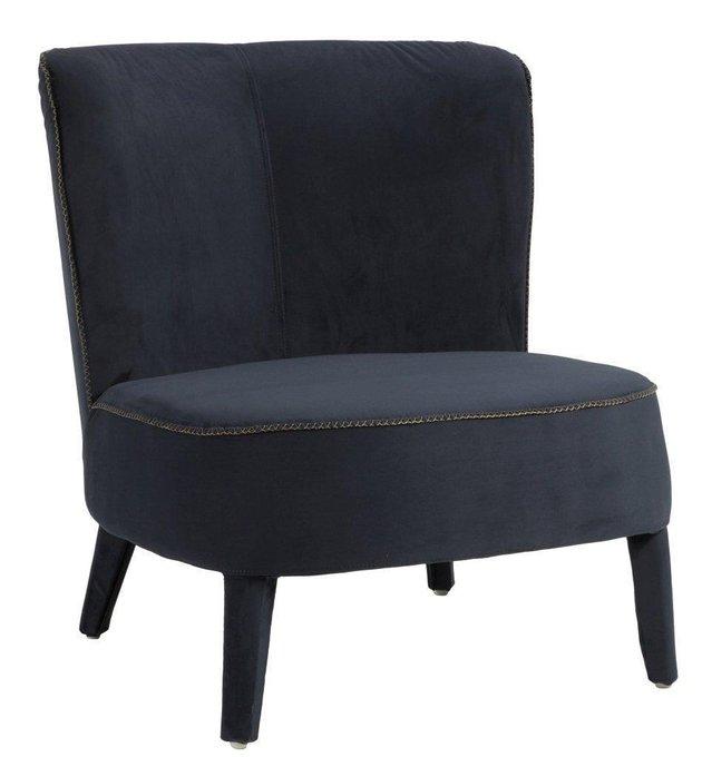 Кресло Roy темно-синего цвета