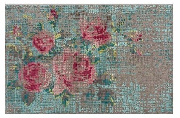 Стильный ковер Flowers с флористичным рисунком 200х300