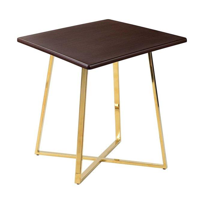 Обеденный стол Haku Gold со столешницей цвета венге