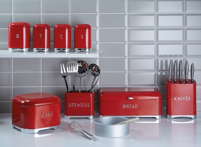 Ёмкость для хранения сахара Lovello Retro red