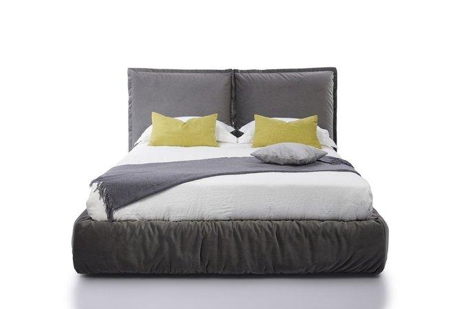 Кровать Now 200х200 серого цвета