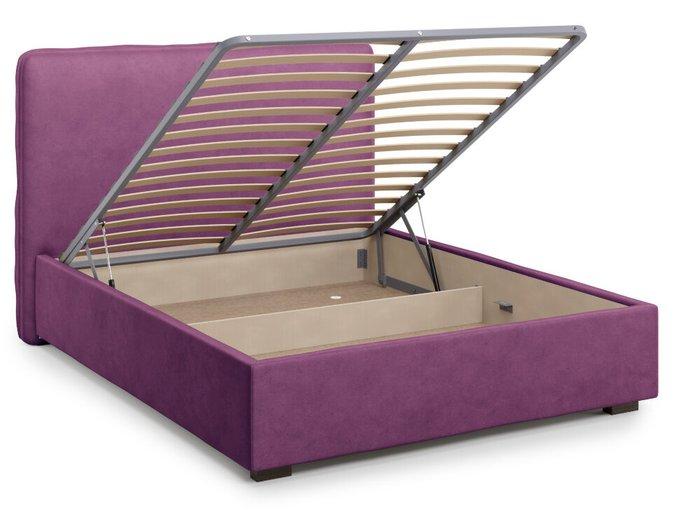 Кровать Brachano 140х200 пурпурного цвета с подъемным механизмом
