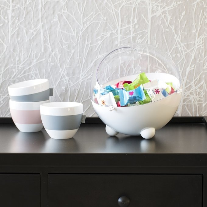 Чашка с термоэффектом Aroma бело-зеленого цвета