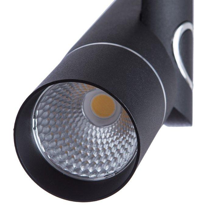 Трековый светодиодный светильник из металла черного цвета