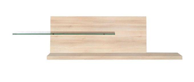 Полка Milano из дерева и стекла