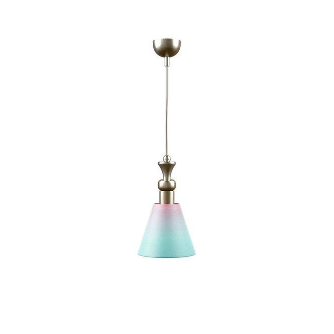 Подвесной светильник Modern с розово-голубым абажуром