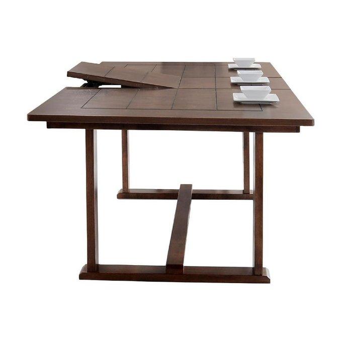 Стол обеденный раздвижной цвета орех