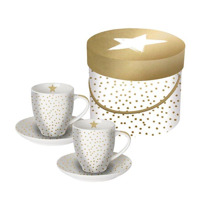 Набор чашек для эспрессо в подарочной упаковке the star money 100 мл