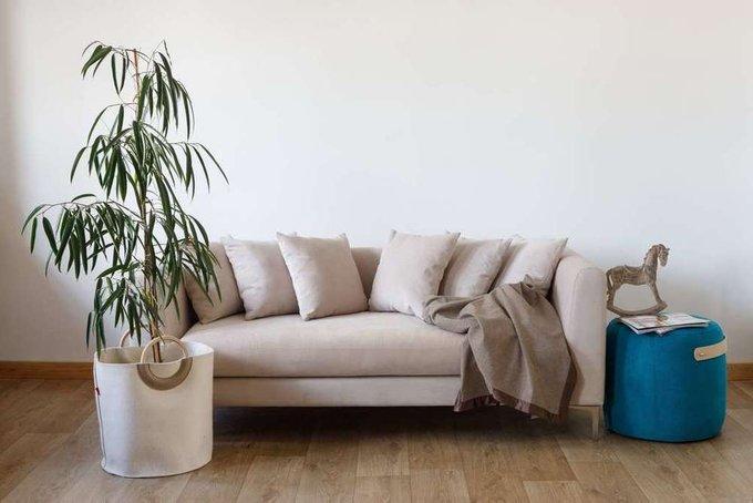 Прямой диван Terra с велюровой обивкой