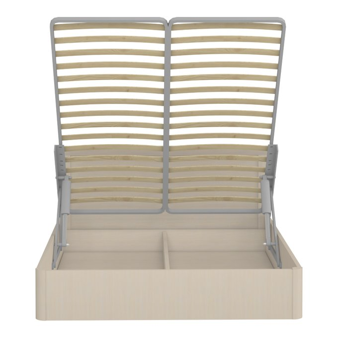 Кровать Магна 140х200 бежевого цвета с подъемным механизмом