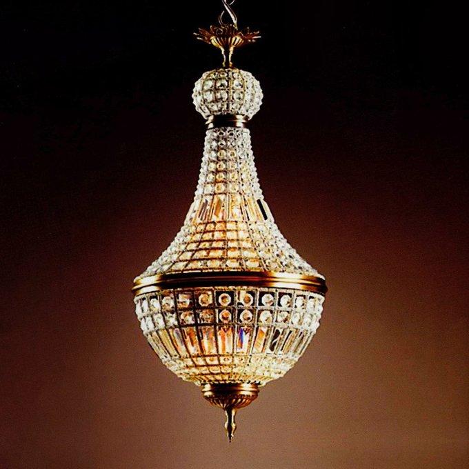 Подвесной светильник DeLight Collection из прозрачных хрустальных подвесок и кристаллов