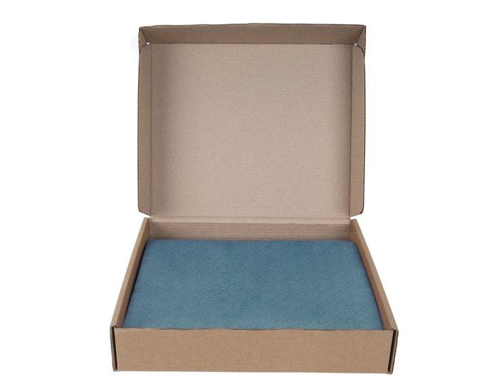 Покрывало Uno Vertikale Azure 140x210 голубого цвета