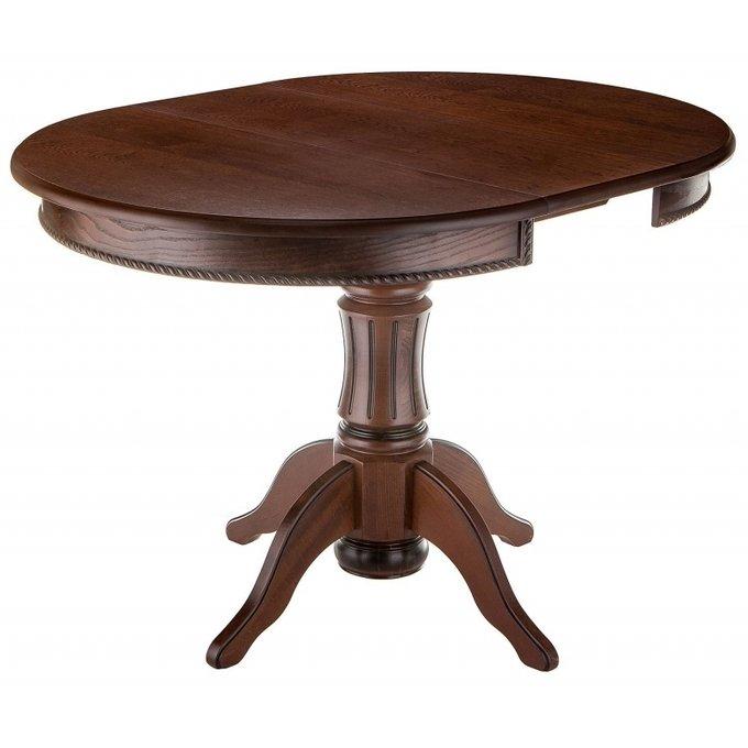 Раскладной обеденный стол Павия орех с патиной