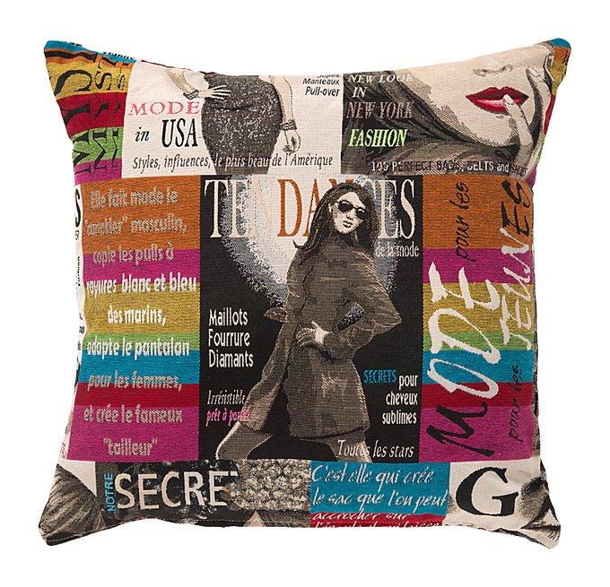 Подушка с принтом Glossy