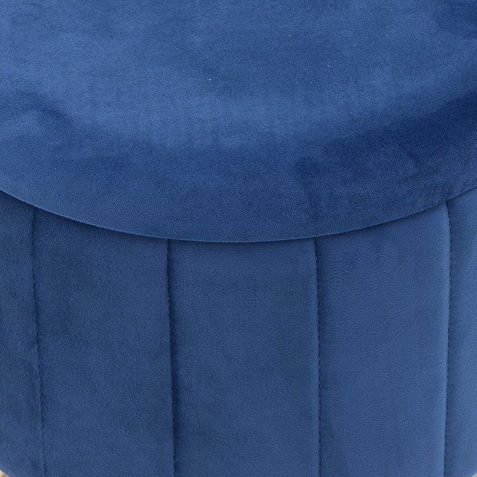 Пуф-бокс синего цвета