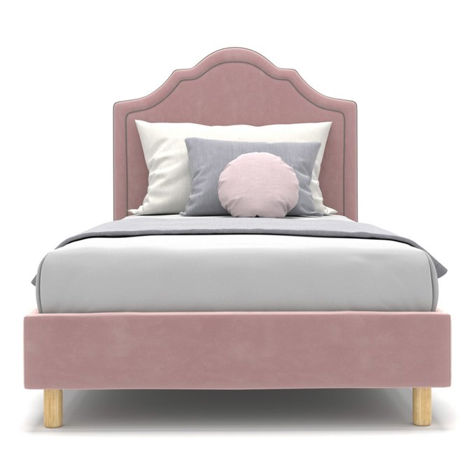 Односпальная кровать Kylie kids на ножках розового цвета 120х200