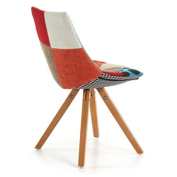 Обеденный стул Armony из ткани и массива бука