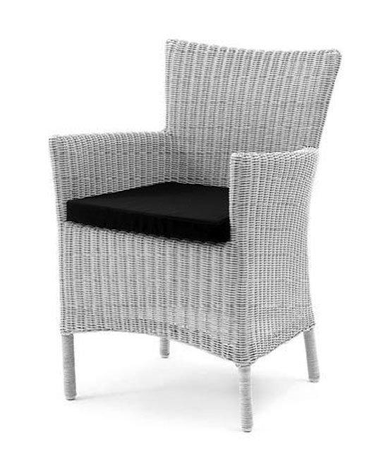 Кресло Toscana из бело-серого искусственного ротанга