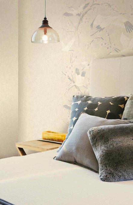 Обои Muralto Oasi Unito Airone бронзово-серого цвета