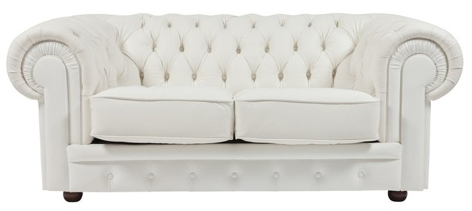 Прямой двухместный диван Chesterfield