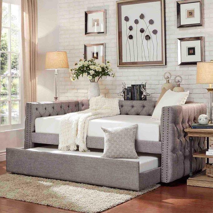 Диван-кровать Taira серого цвета 90х200