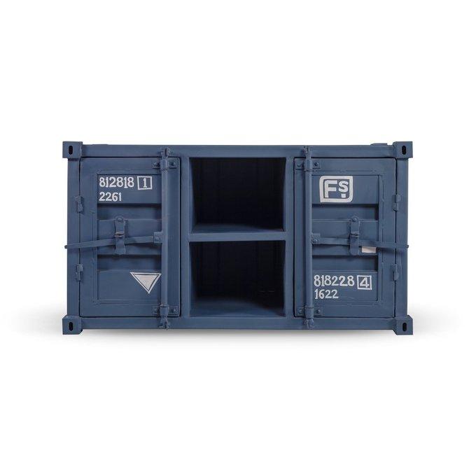 Комод под ТВ Industrial серо-синего цвета