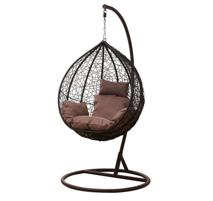 Подвесное кресло Moti brown коричневого цвета