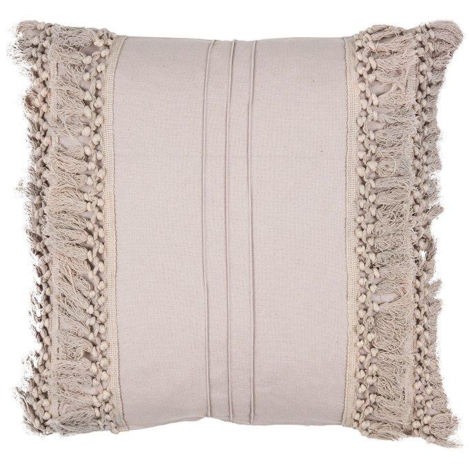 Декоративная подушка Chidike бежевого цвета