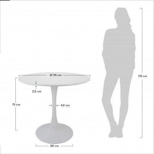 Обеденный стол Tulip S черного цвета