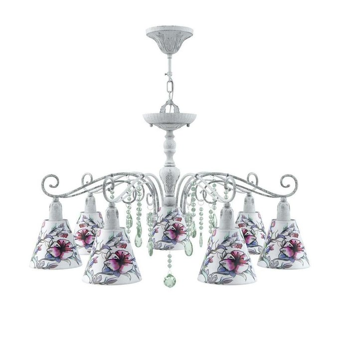 Подвесная люстра Provence со стеклянными подвесками